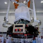 003-Planck lifted for solar array installation